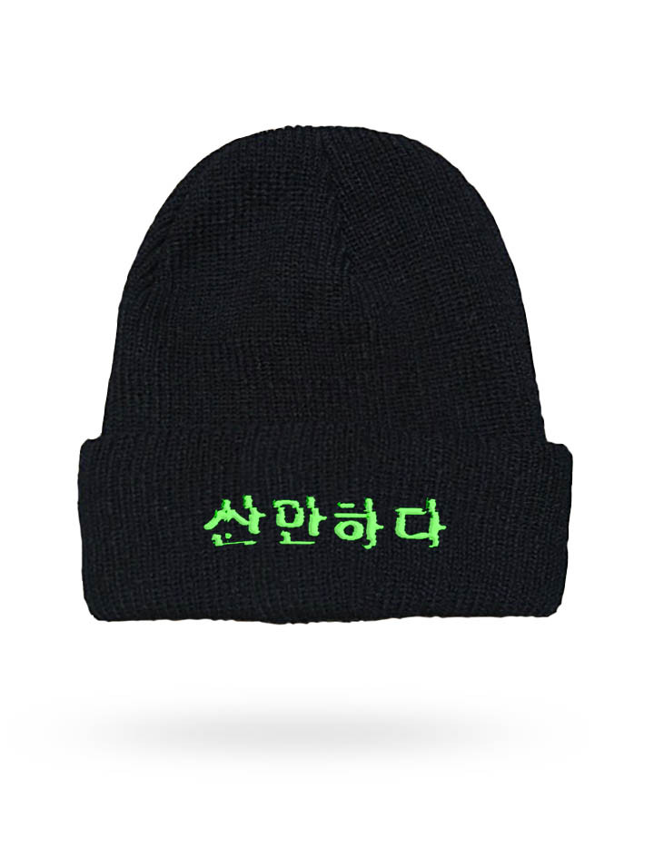turbulent-korean-beanie green