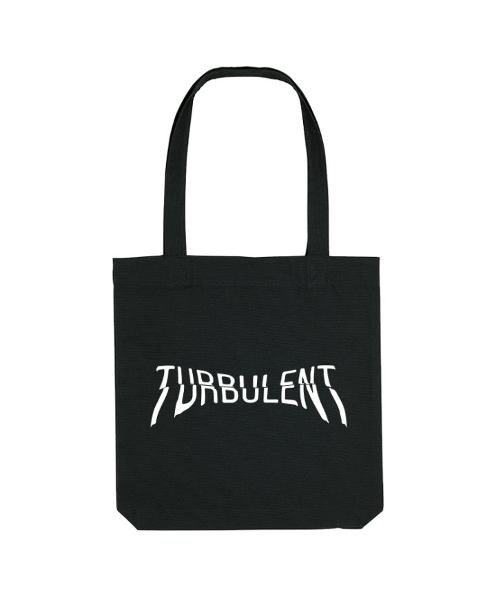 turbulent totebag white