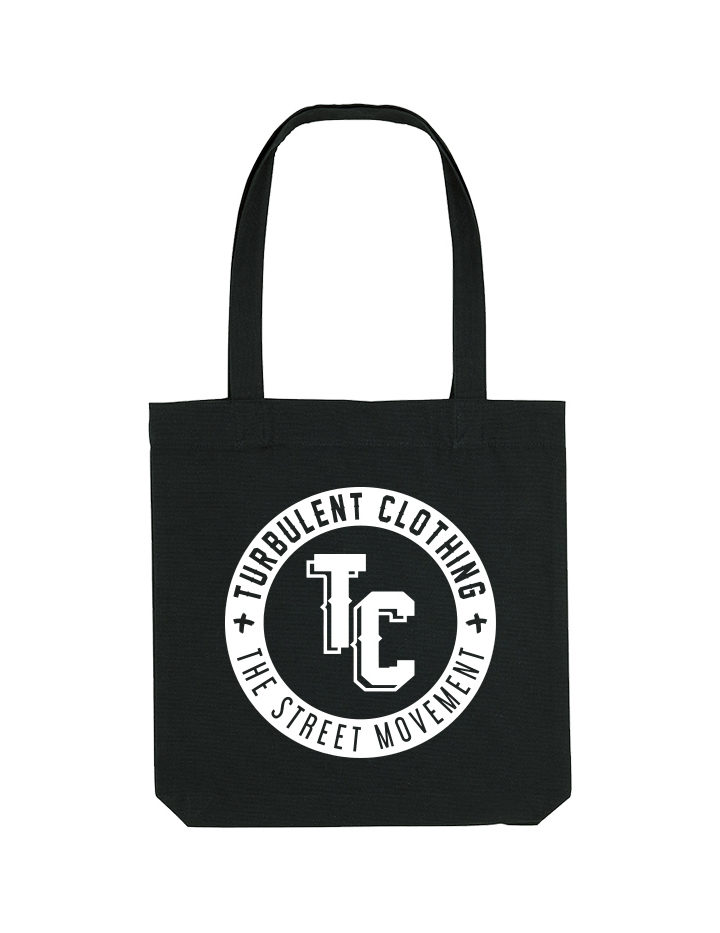 turbulent totebag white circle